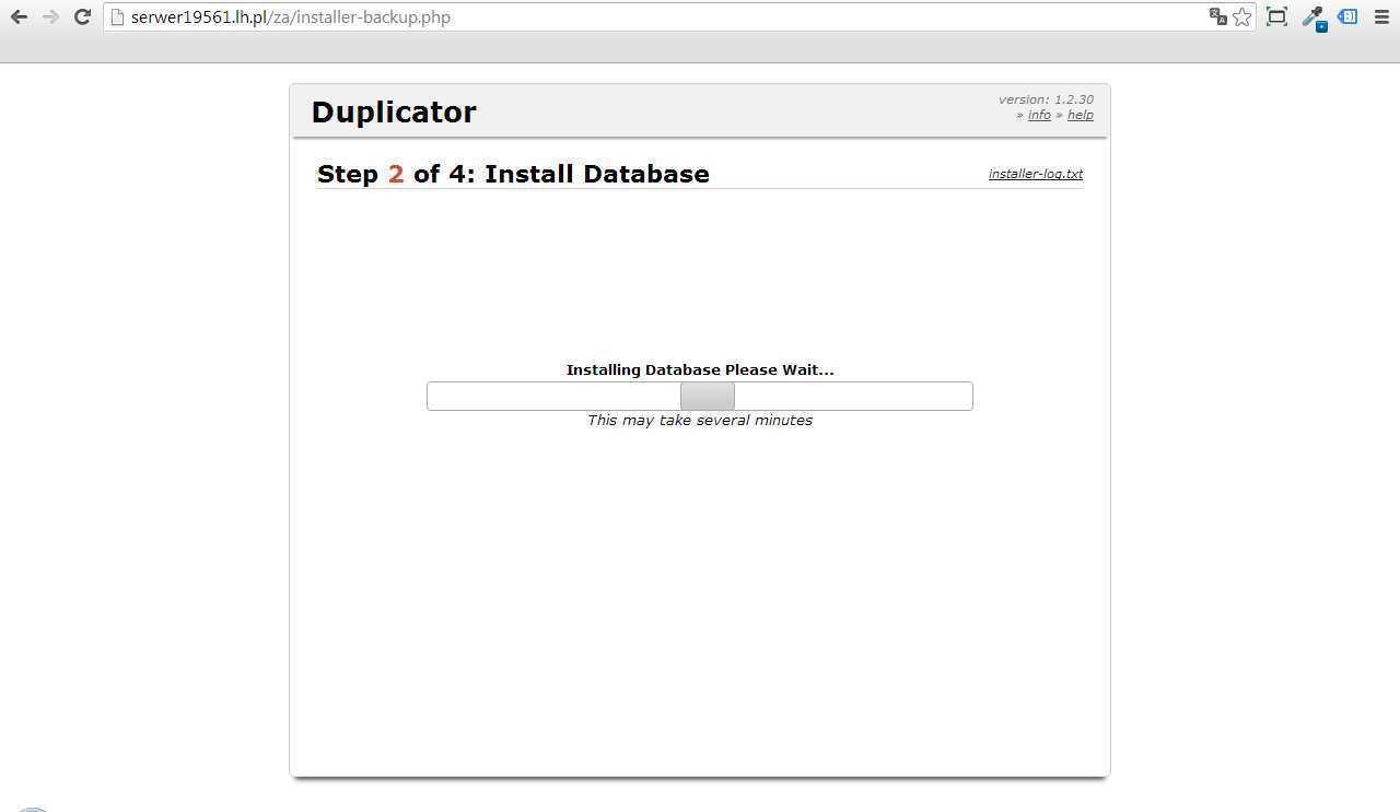 instalacja kopii duplicator