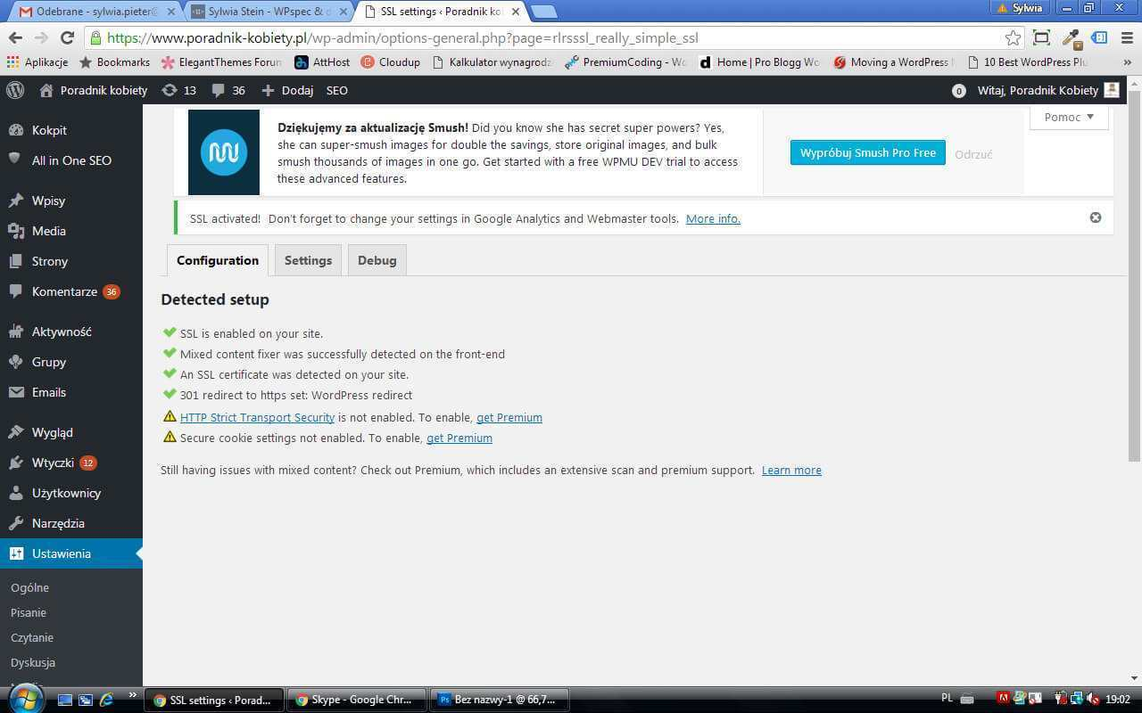podłączenie ssl podwordpress
