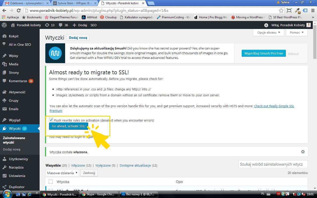 wordpress certyfikat ssl